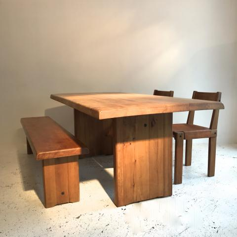 PIERRE CHAPO DINING TABLE SET DESPREZ BREHERET